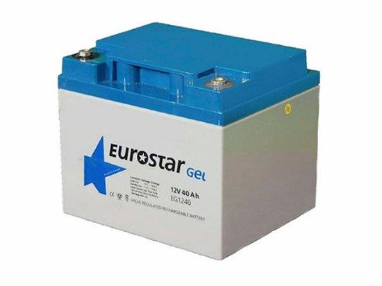 EUROSTAR 40Ah 12V Solar Jel Akü