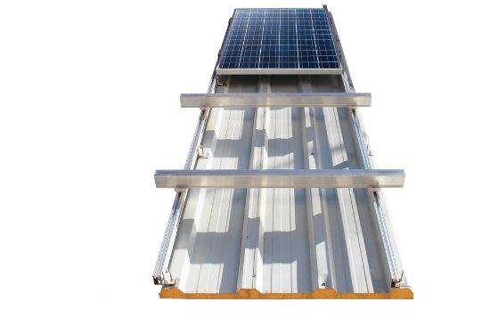 Güneş Paneli Montajı Sandviç Panel Üzeri