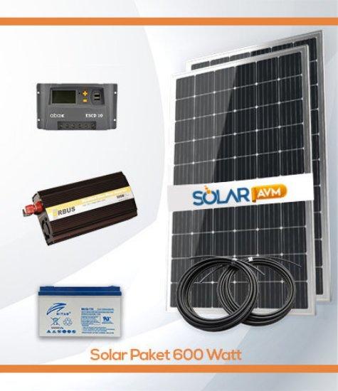 600 Watt Solar Paket Off Grid Güneş Enerji Sistemi resmi