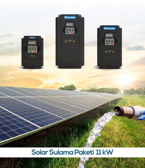 Güneş Enerjili Solar Tarımsal Sulama Sistemleri-11-kW-15 HP-pompa